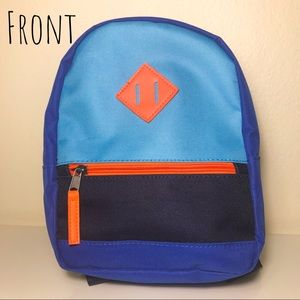 Cat & Jack Blue/Orange Toddler Backpack - NWOT